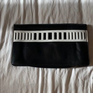 Black and White Vince Clutch